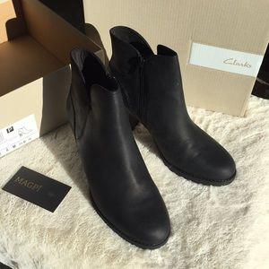 e9e090845e635 Clarks Shoes | Nwt Verona Trish Leather Heeled Ankle Boot | Poshmark